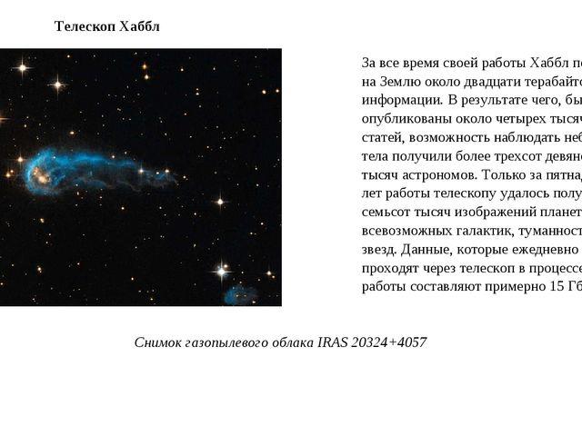 За все время своей работы Хаббл передал на Землю около двадцати терабайтов ин...