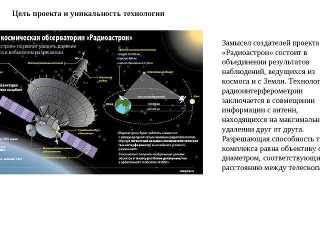 Цель проекта и уникальность технологии Замысел создателей проекта «Радиоастро...