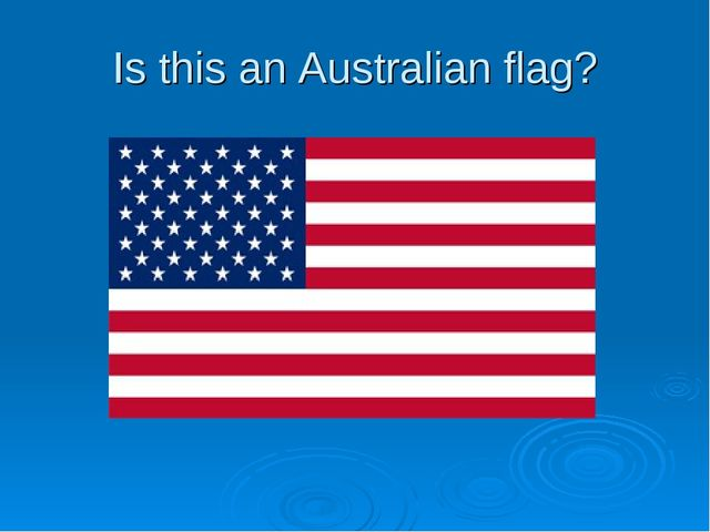Is this an Australian flag?