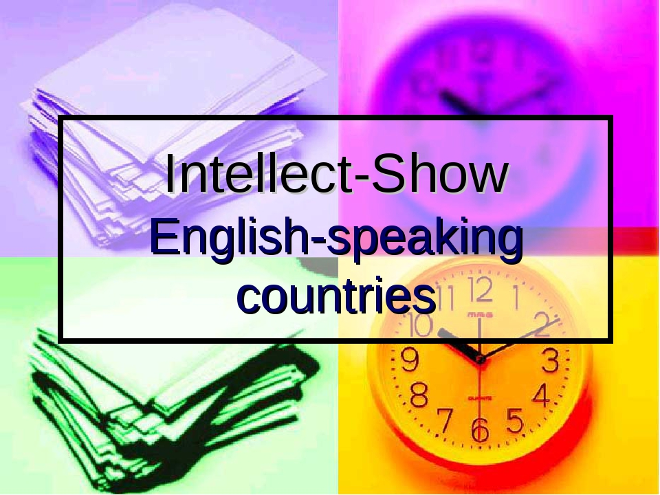 Intellect-Show English-speaking countries