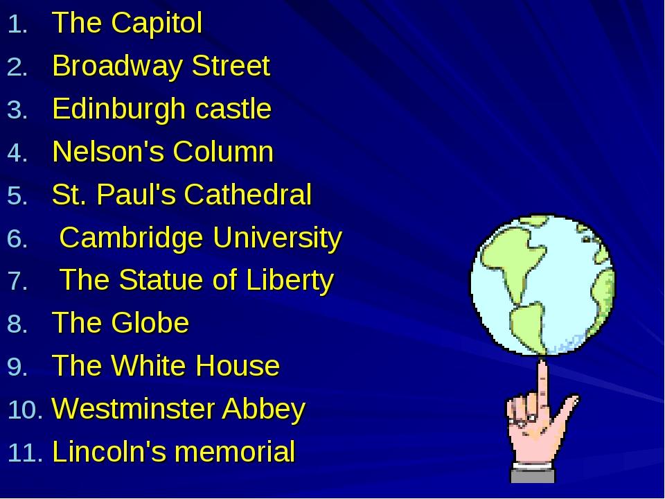 The Capitol Broadway Street Edinburgh castle Nelson's Column St. Paul's Cathe...
