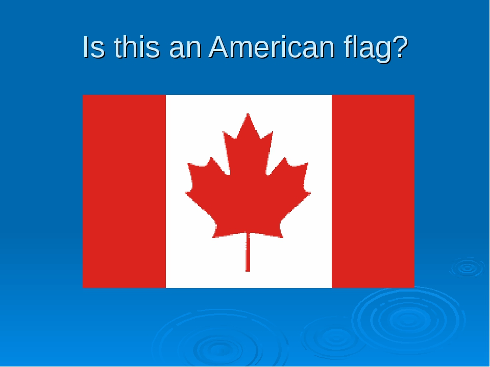 Is this an American flag?
