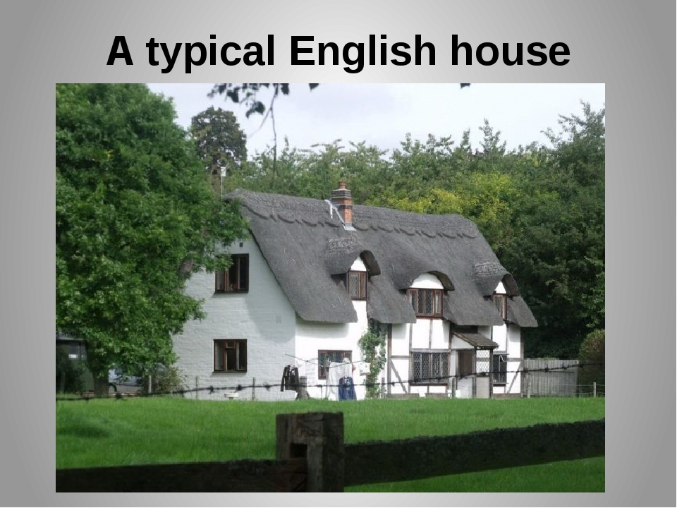 A typical English house