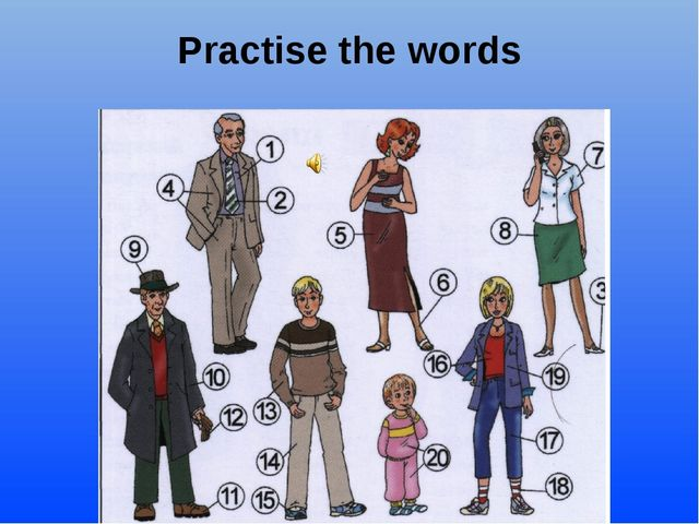 Practise the words