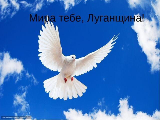 Мира тебе, Луганщина!