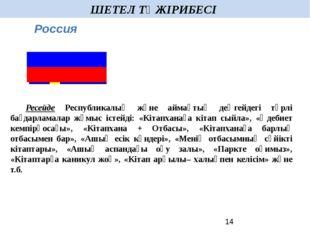 ШЕТЕЛ ТӘЖІРИБЕСІ  Ресейде Республикалық және аймақтық деңгейдегі түрлі бағд