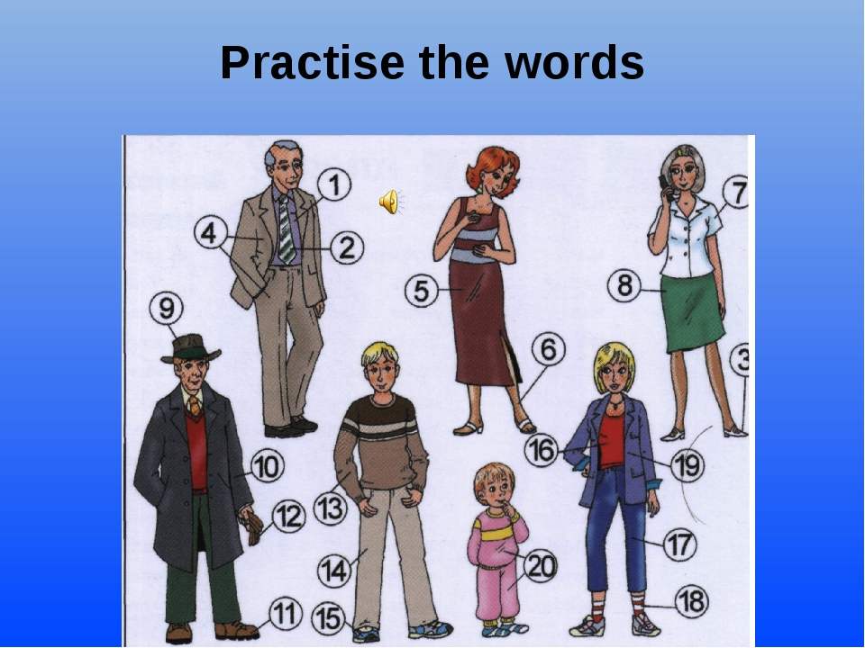 Картинка описание человека на английском