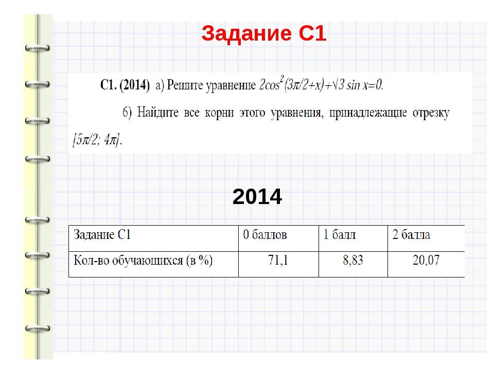 Задание С1 2014