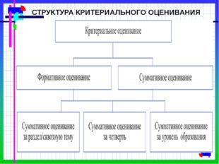 СТРУКТУРА КРИТЕРИАЛЬНОГО ОЦЕНИВАНИЯ