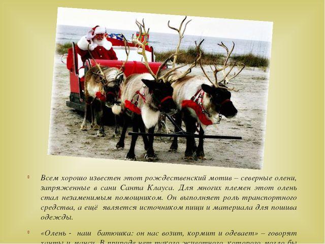 Всем хорошо известен этот рождественский мотив – северные олени, запряженные...