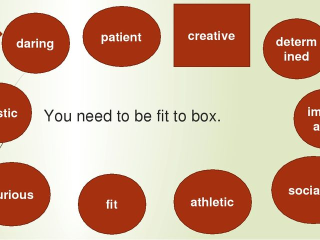 You need to be fit to box. artistic creative daring fit patient athletic soci...
