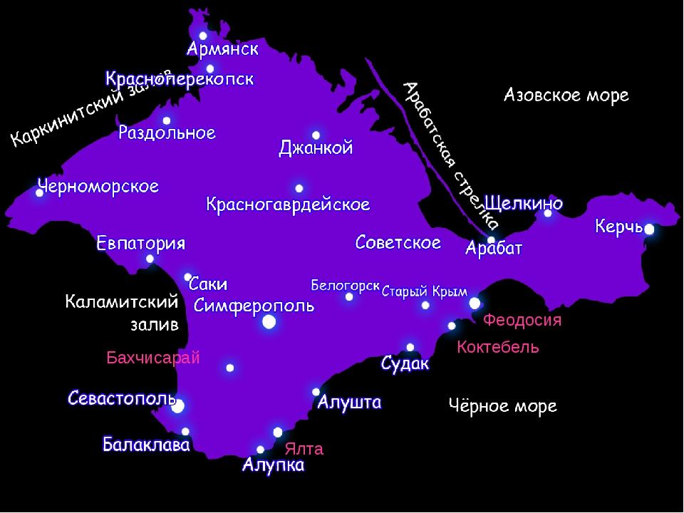 Феодосия Бахчисарай Ялта Коктебель