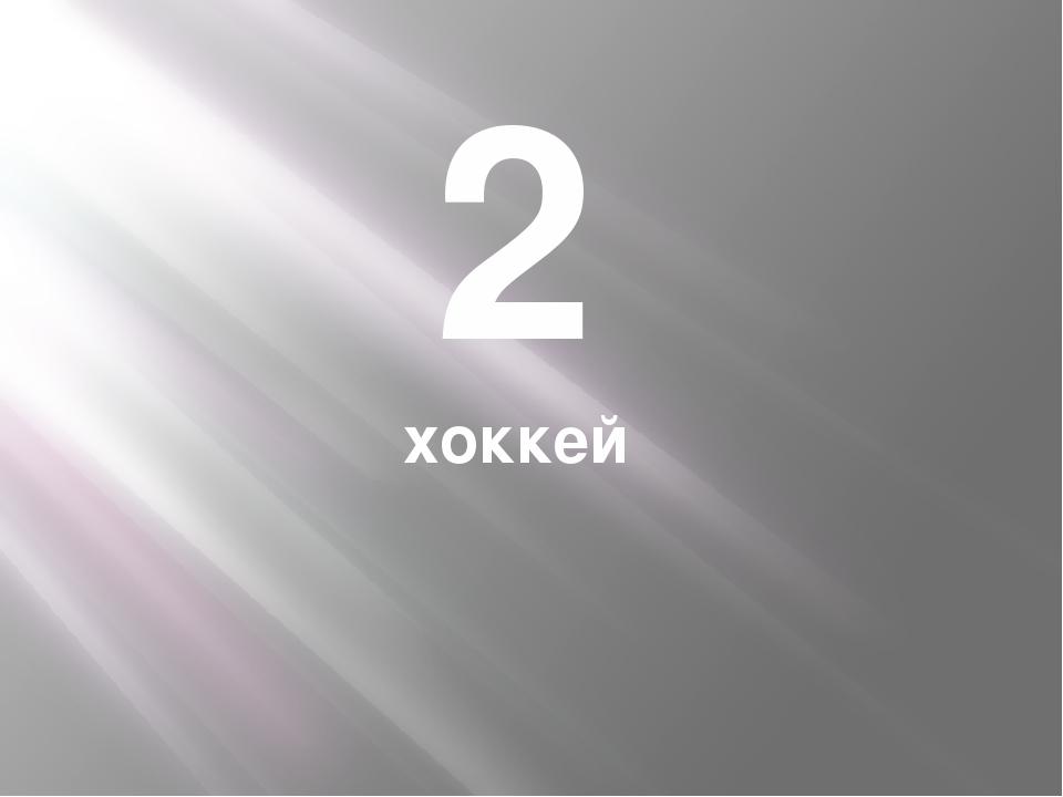 2 хоккей