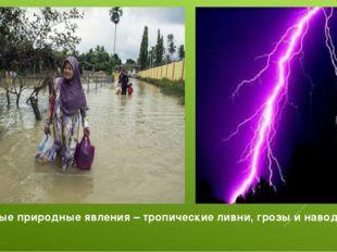 Опасные природные явления – тропические ливни, грозы и наводнения