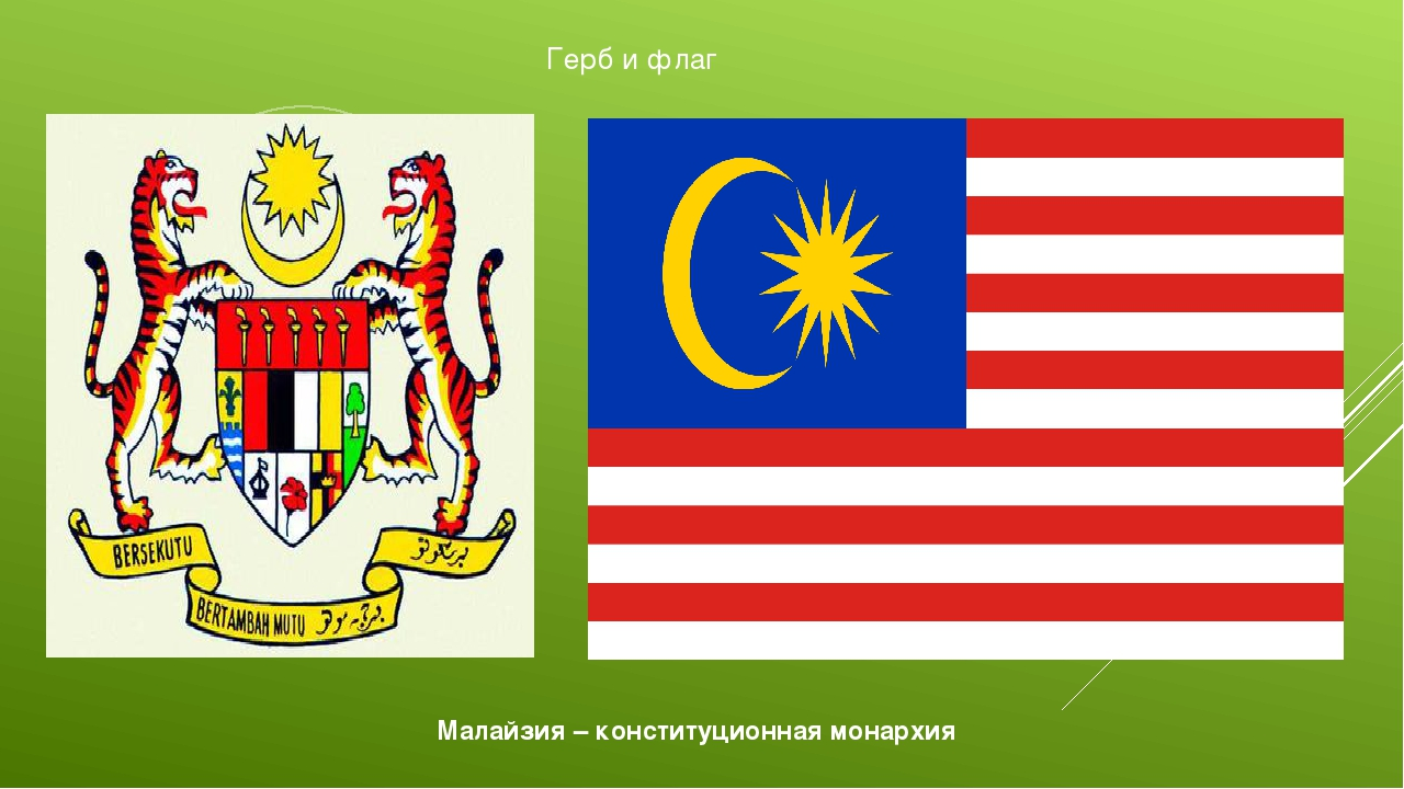 Герб и флаг Малайзия – конституционная монархия