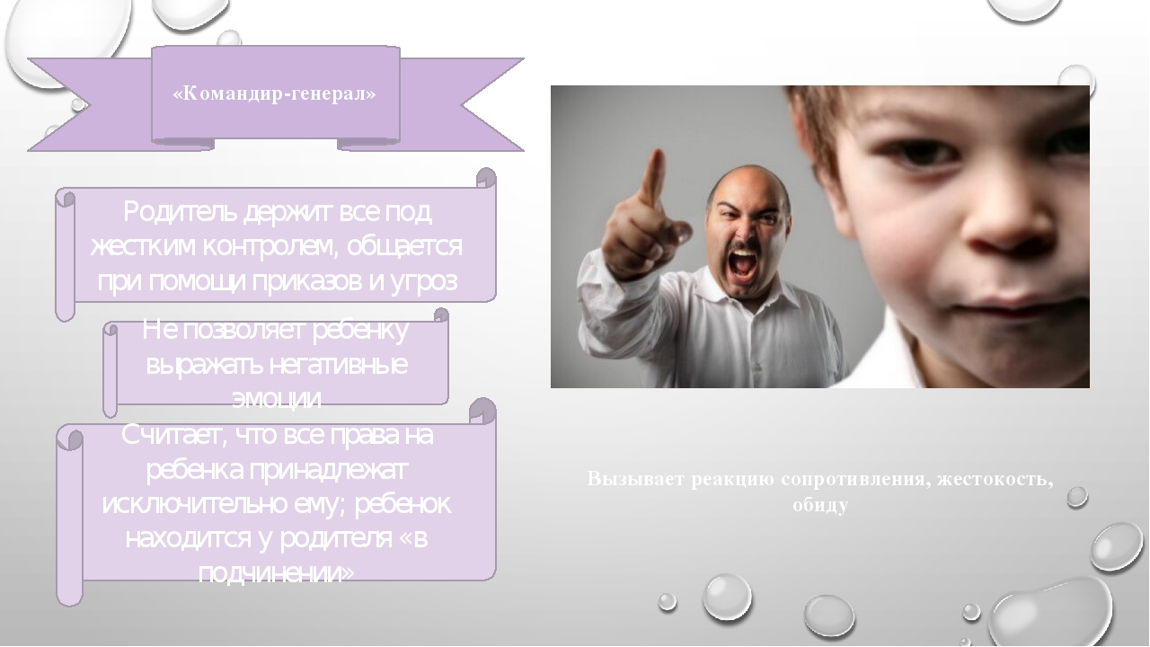 «Командир-генерал» Родитель держит все под жестким контролем, общается при по...