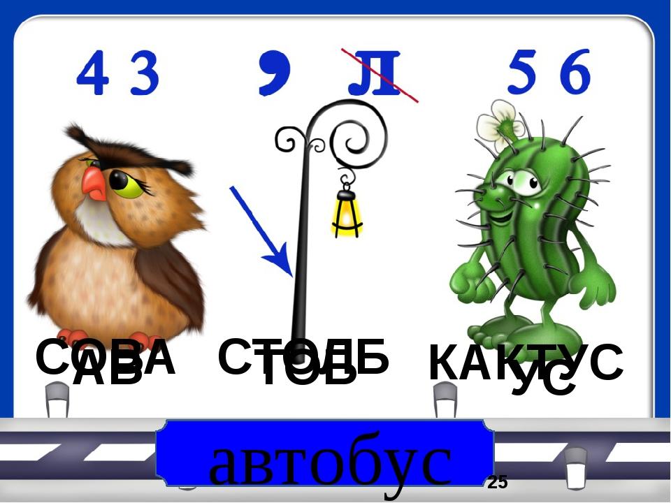 автобус СОВА СТОЛБ КАКТУС АВ ТОБ УС