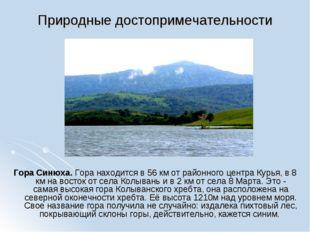 Природные достопримечательности Гора Синюха. Гора находится в 56 км от районн