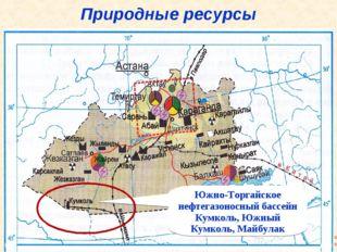 Природные ресурсы Южно-Торгайское нефтегазоносный бассейн Кумколь, Южный Кумк
