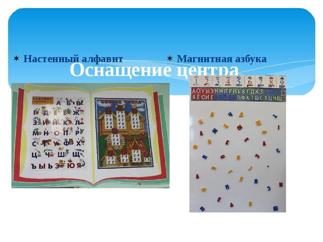 Оснащение центра Настенный алфавит Магнитная азбука