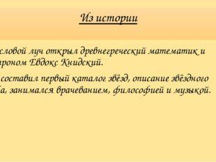 Из истории Числовой луч открыл древнегреческий математик и астроном Евдокс Кн