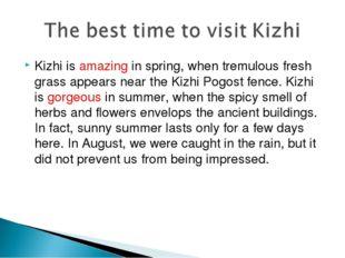 Kizhi is amazing in spring, when tremulous fresh grass appears near the Kizhi