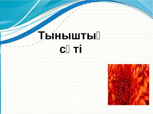 Тыныштық сәті Образец заголовка Эмблема организации