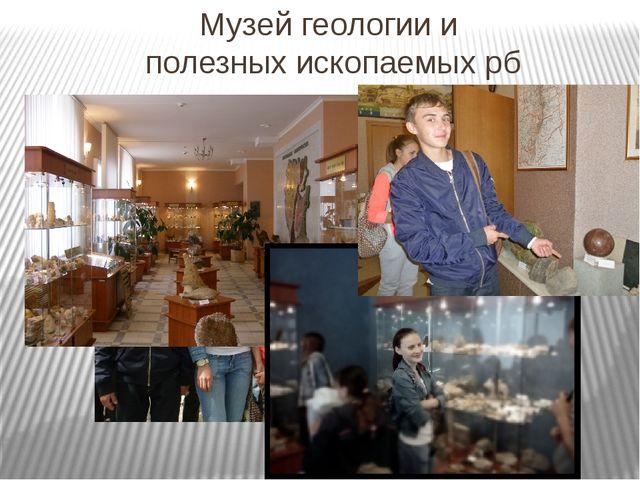 Музей геологии и полезных ископаемых рб