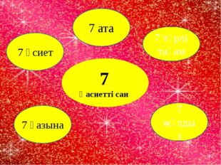 7 Қасиетті сан 7 түрлі тағам 7 жұлдыз 7 қазына 7 өсиет 7 ата