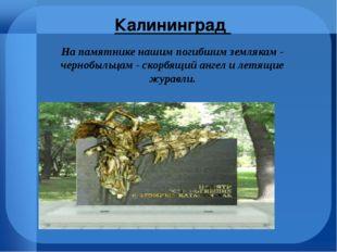 Калининград На памятнике нашим погибшим землякам - чернобыльцам - скорбящий
