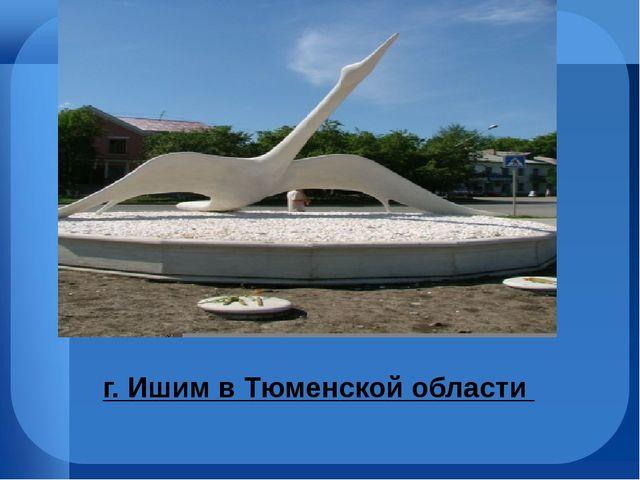 г. Ишим вТюменской области