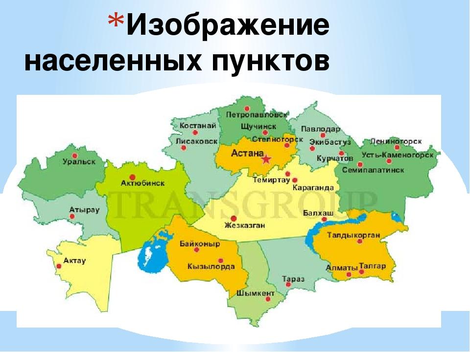Изображение населенных пунктов