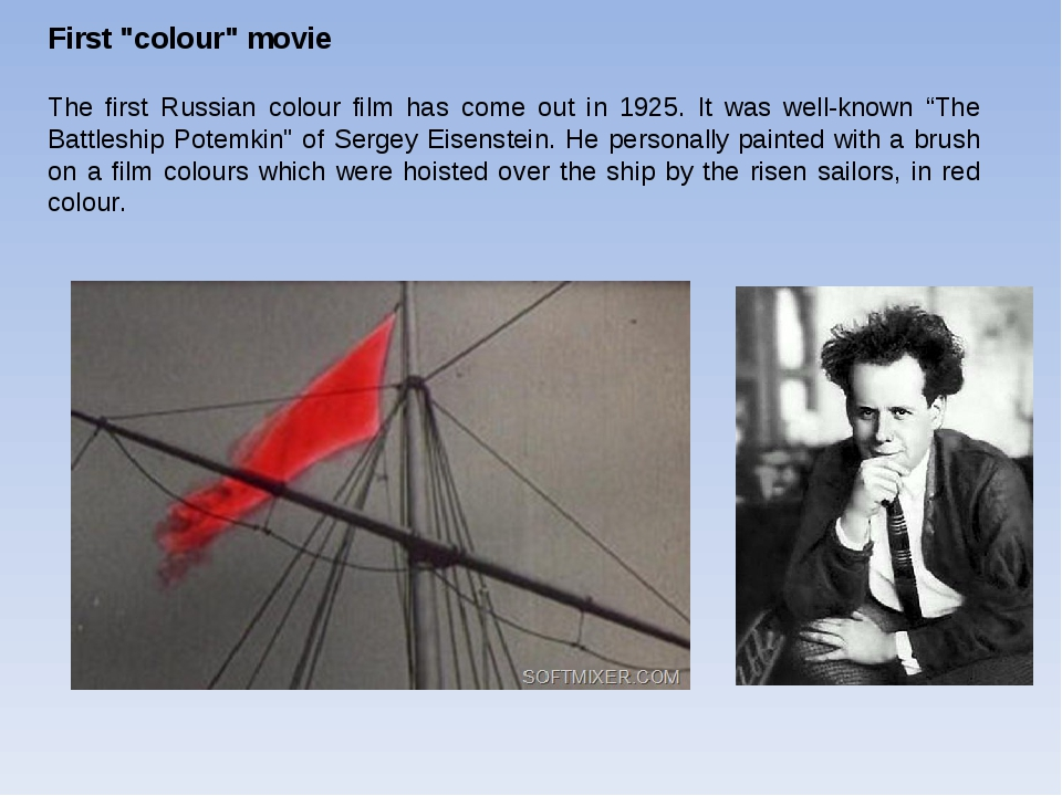 """First """"colour"""" movie The first Russian colour film has come out in 1925. It w..."""