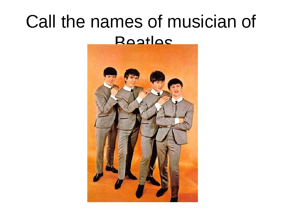 Call the names of musician of Beatles