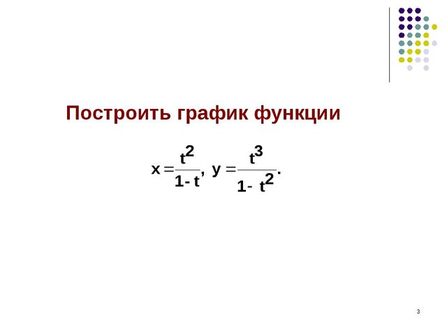 * Построить график функции
