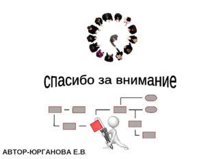 АВТОР-ЮРГАНОВА Е.В.