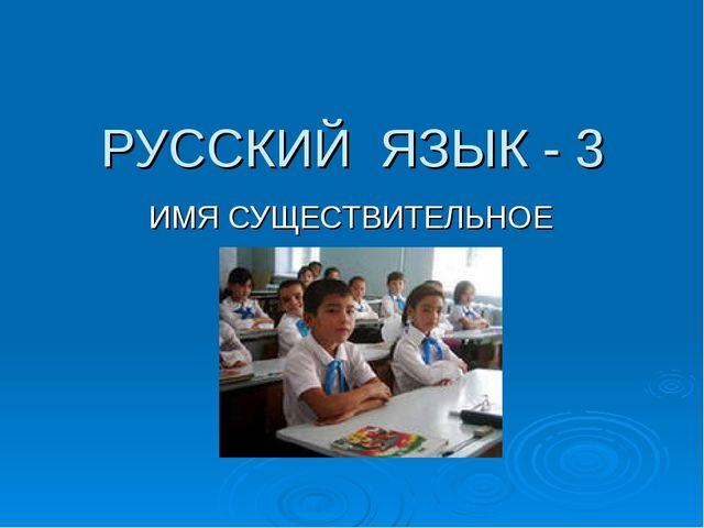 РУССКИЙ ЯЗЫК - 3 ИМЯ СУЩЕСТВИТЕЛЬНОЕ