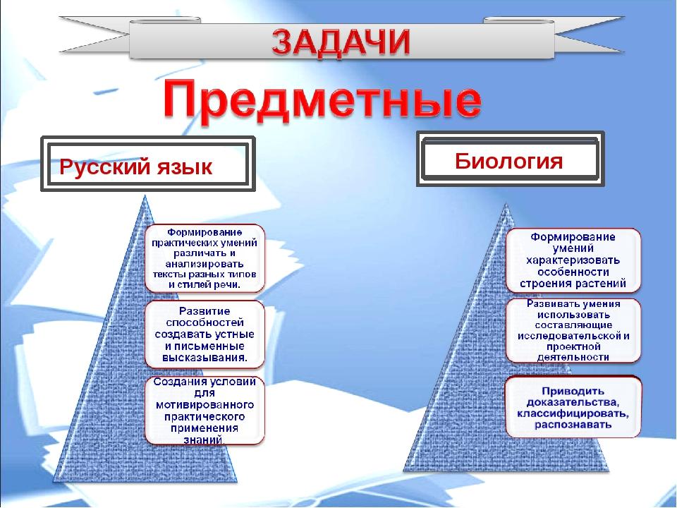Русский язык Биология