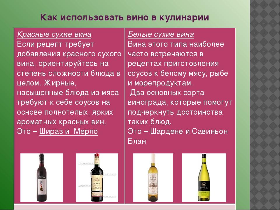 Чем можно заменить сухое белое вино