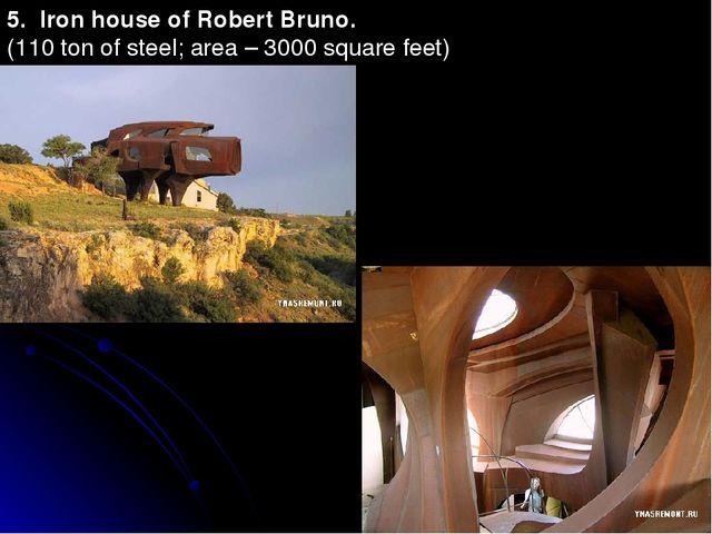 5. Iron house of Robert Bruno. (110 ton of steel; area – 3000 square feet)