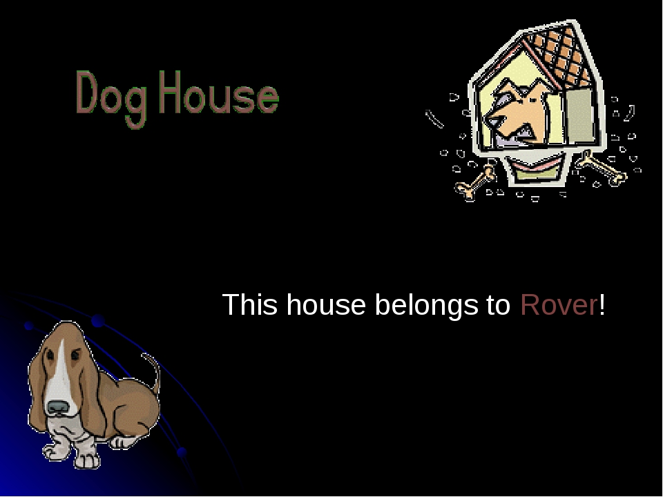 This house belongs to Rover!