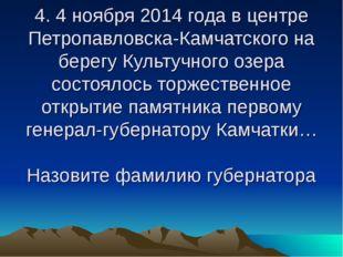 4. 4 ноября 2014 года в центре Петропавловска-Камчатского на берегу Культучно