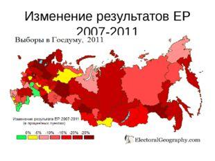 Изменение результатов ЕР 2007-2011