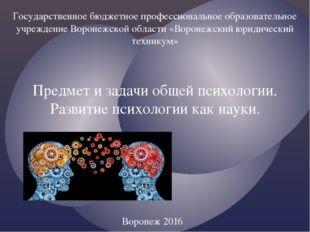 Государственное бюджетное профессиональное образовательное учреждение Воронеж