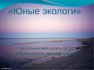 «Юные экологи» Экологический кружок МОБУ «Кузнецовская средняя школа»