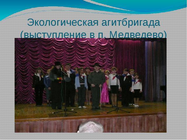Экологическая агитбригада (выступление в п. Медведево)