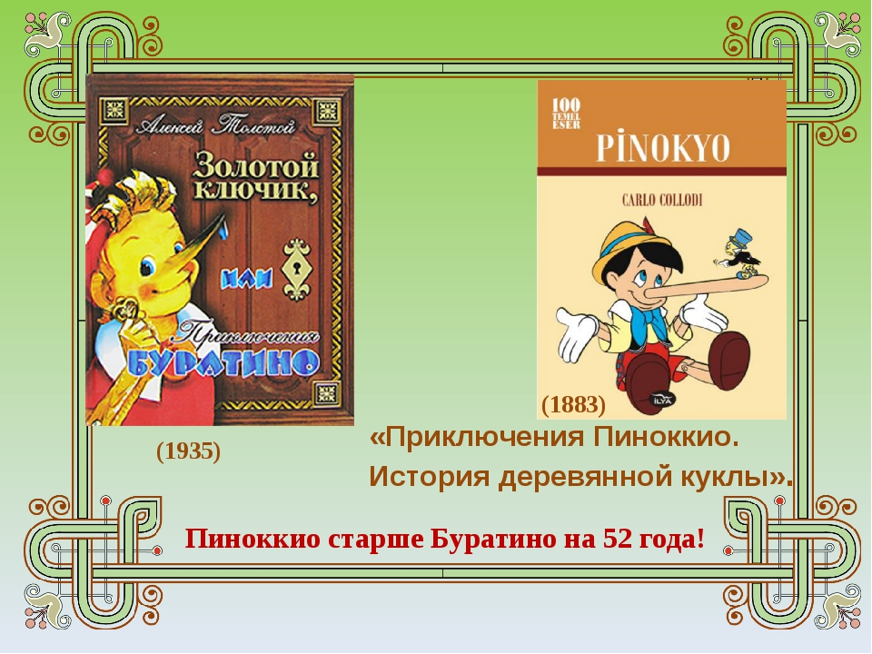 «Приключения Пиноккио. История деревянной куклы». (1883) (1935) Пиноккио ста...