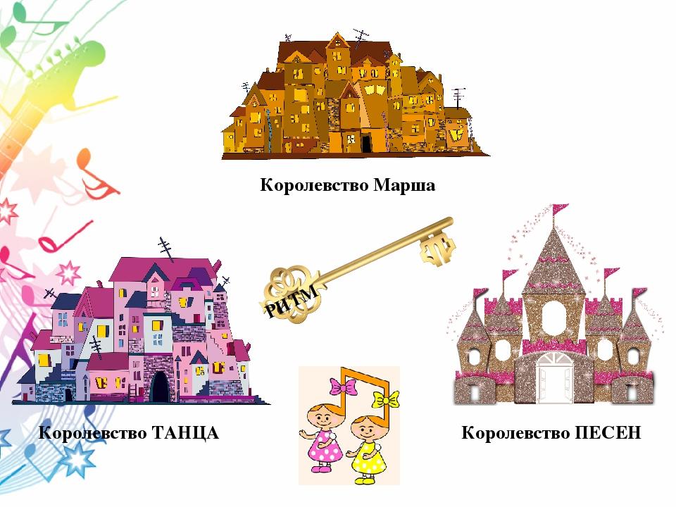 Королевство Марша Королевство ТАНЦА Королевство ПЕСЕН РИТМ