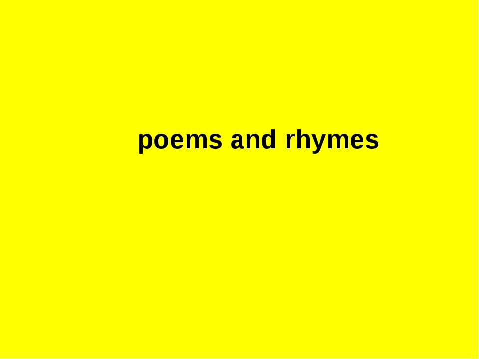 poems and rhymes
