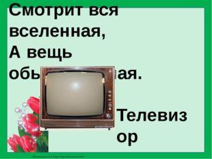 Смотрит вся вселенная, А вещь обыкновенная. Телевизор Матюшкина А.В. http://n
